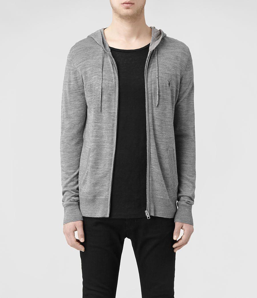 Mens Mode Merino Zip Hoody (Grey Marl) | | Zip
