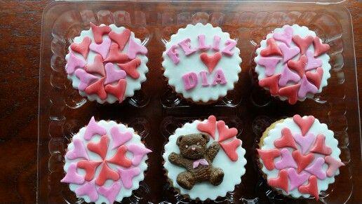 Cupcake fondant amor y amistad