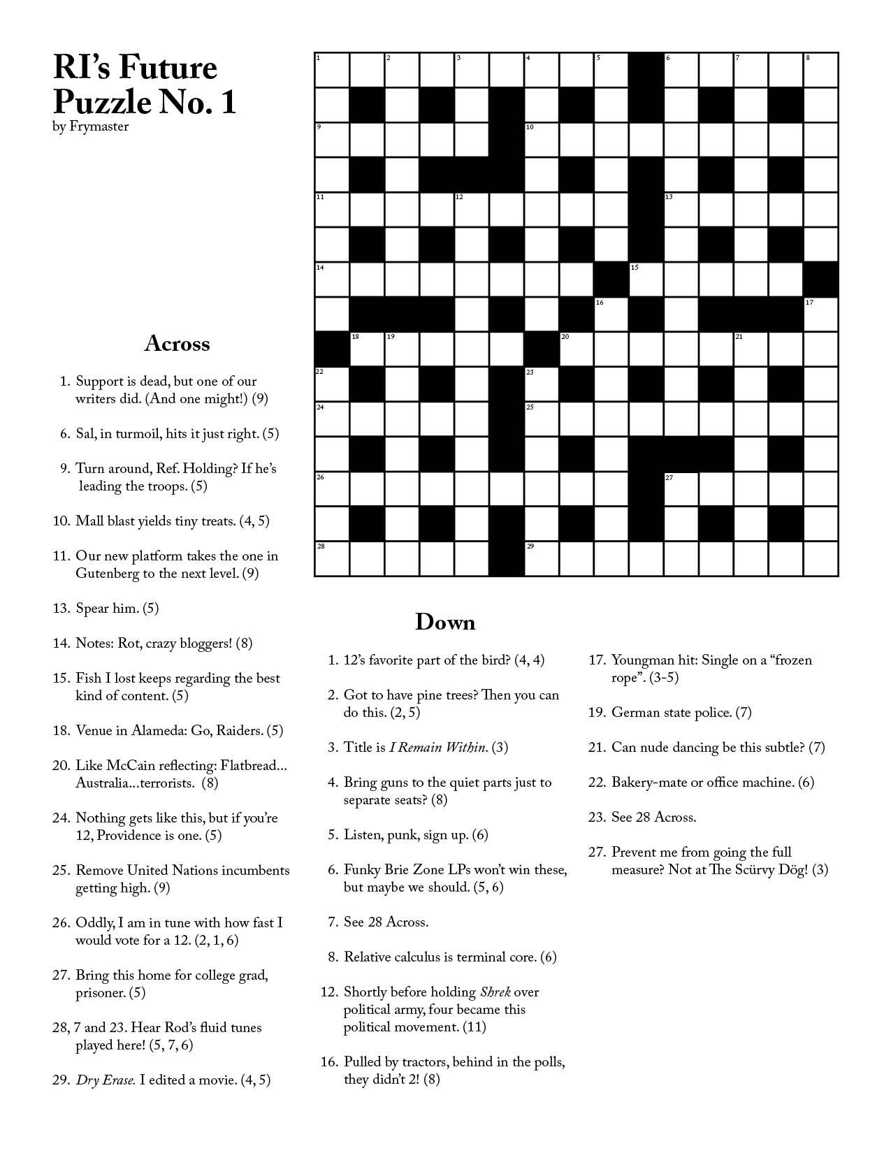 Recycling Crossword Puzzle Printable Check More At S