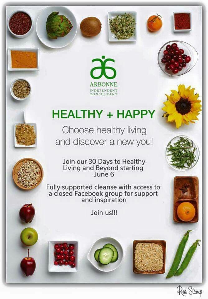 Order is being placed Monday evening for the 30 Days to Healthy Living Kits and any other products you may need. Let you friends and family know.  What's your goal? Lose weight, maintain weight, feel healthier and more energetic? Vegan certified, Gluten free, No artificial colours, flavours, or sweeteners, No cholesterol, saturated or trans fats Whey and soy free