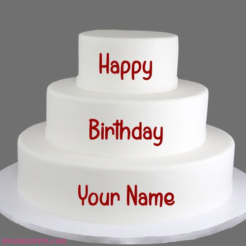 Happy Birthday Layer Cake With Name Profile Print Your Big