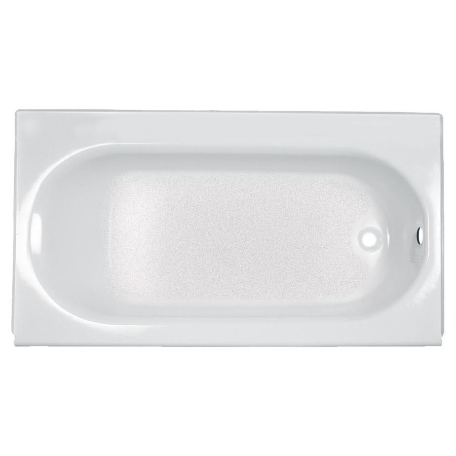 American Standard Princeton 60 In White Porcelain Enameled Steel Rectangular Left Hand Drain Alcove Bathtub At Lowes Com Soaking Bathtubs Bathtub Tub