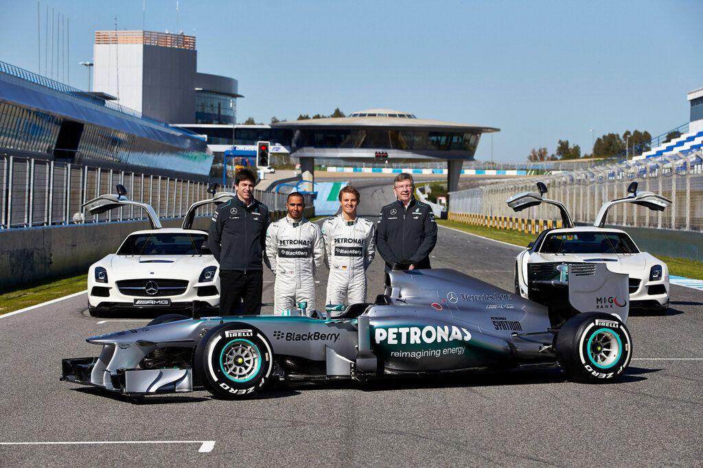 Mercedes-Benz AMG   MERCEDES AMG PETRONAS LAUNCHES 2013 SILVER ARROW IN JEREZ « Nico ...