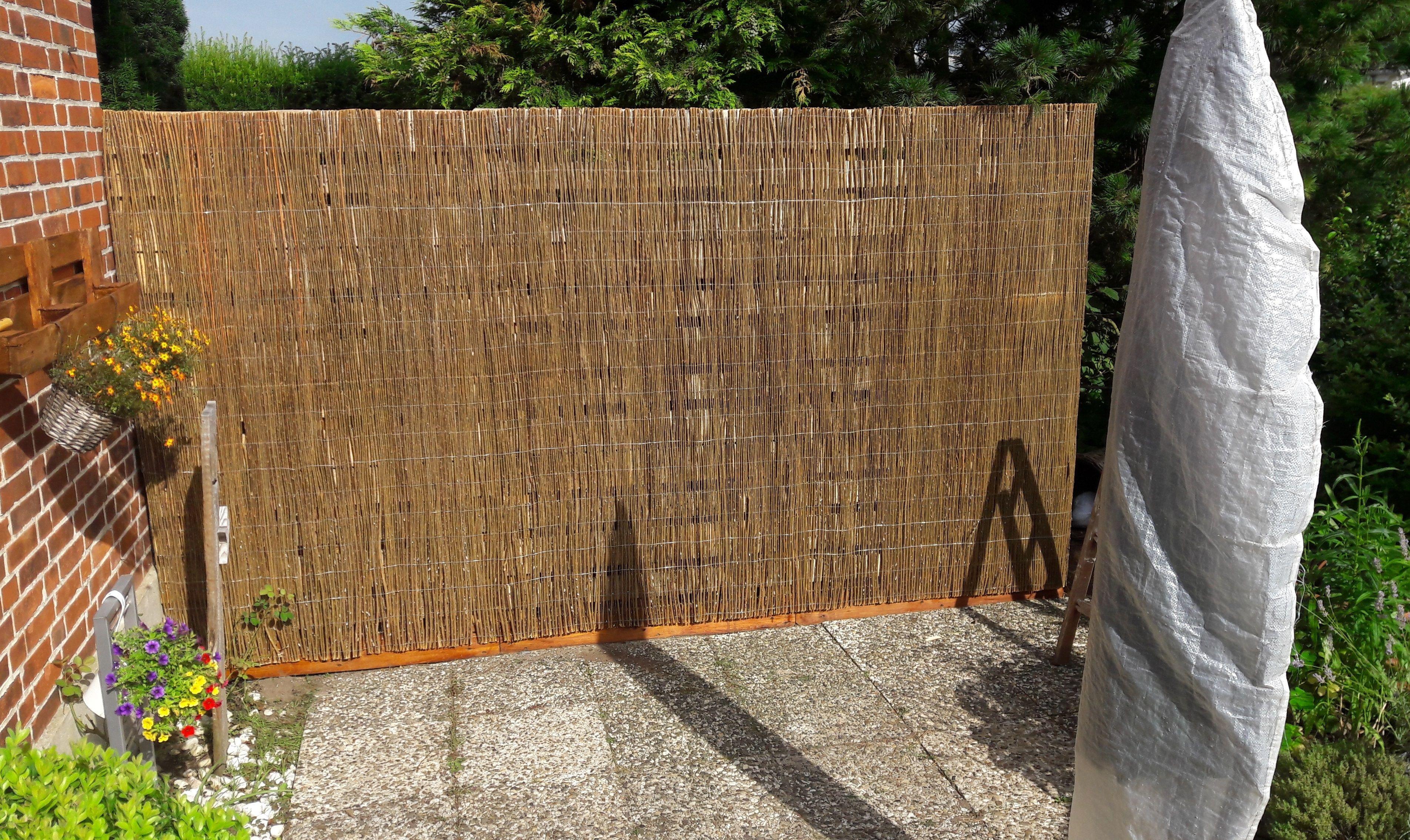 Paletten Recycling Sichtschutz Bauanleitung Zum Selber Bauen