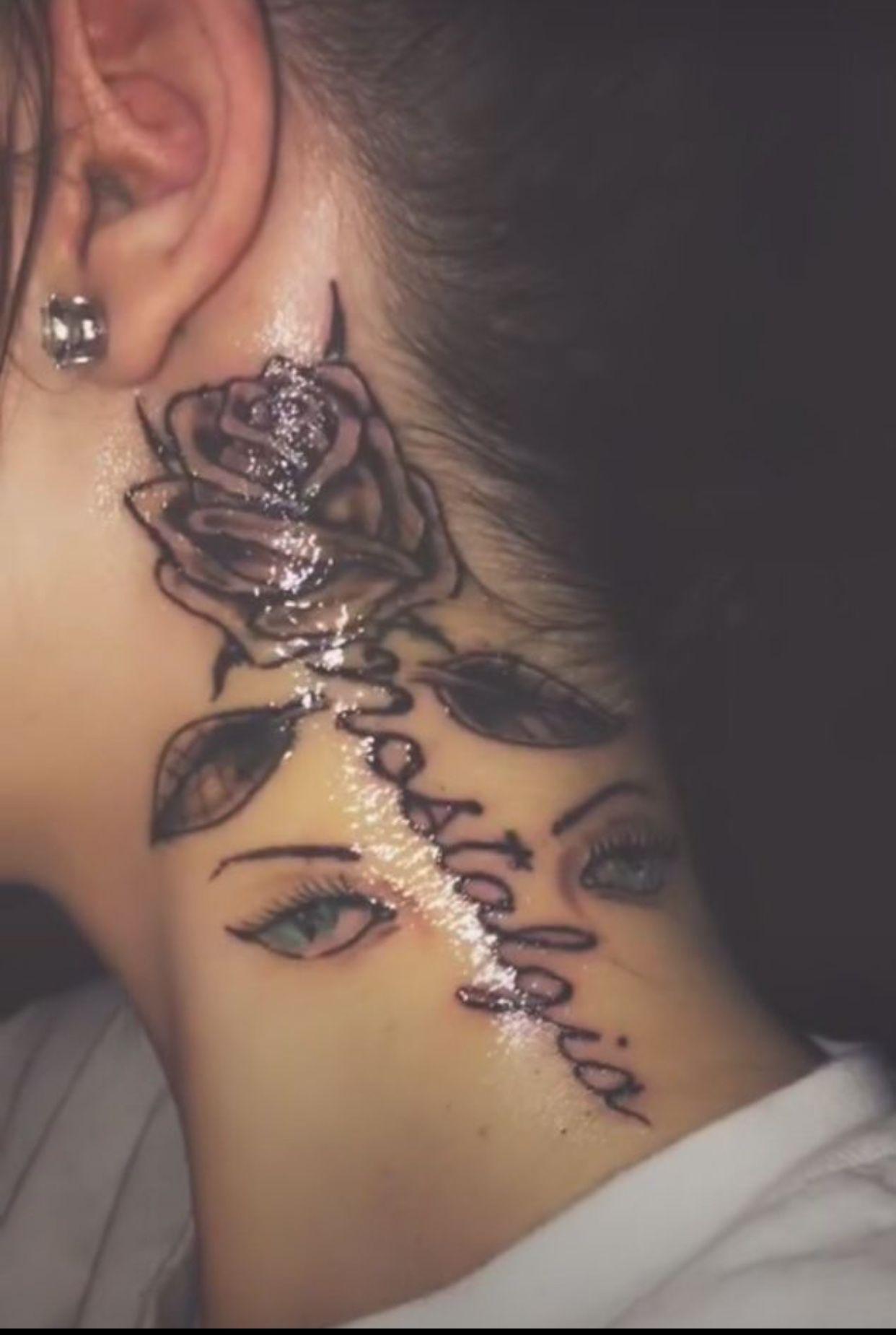 christinabrianna_ 💕🎀🏹 Neck tattoos women, Girl neck