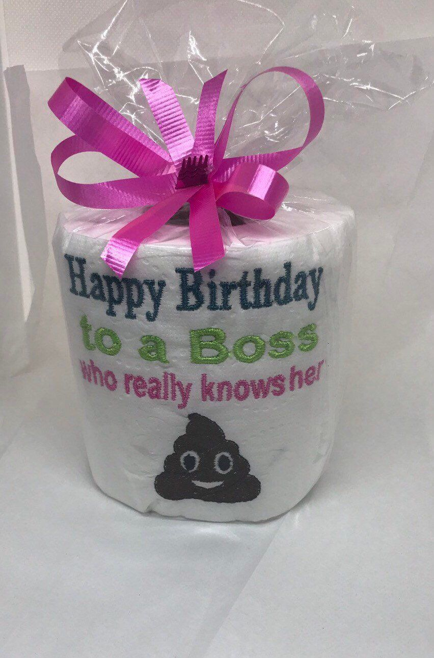 Female Boss Birthday Office Female Birthday Gag Gift Fun
