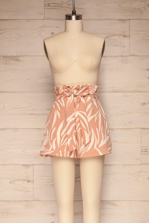 Abrantes Pink & White Chiffon Shorts | La petite garçonne
