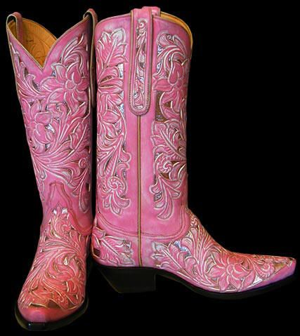 Pink boots, Pink cowgirl boots