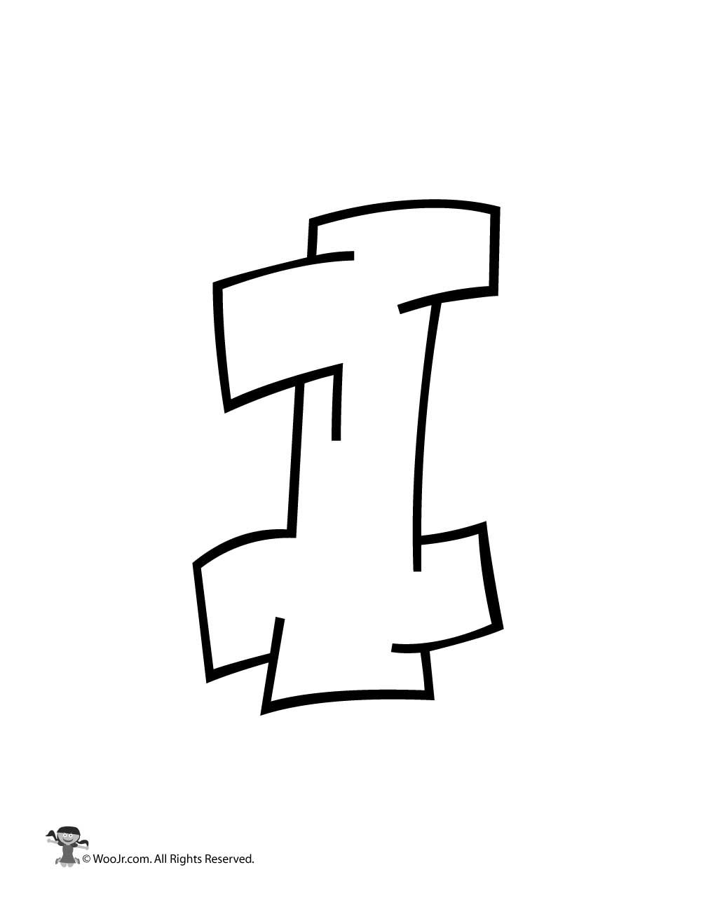 Graffiti Capital Letter I In 2020 Graffiti Lettering Fonts