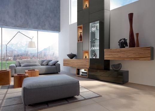 GroB Ausdrucksvolle Möbel Kommen Von Hülsta. Elegante Solisten Wie Das Highboard  Oder Eine Ganze Wohnwand   Hochwertige Wohnzimmermöbel Schaffen Atmosphäre.