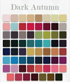 Image result for deep autumn color palette