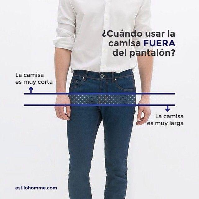 ¿Cuándo usar la camisa FUERA del pantalón?
