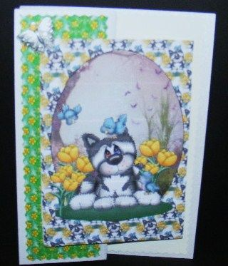 Springtime puppy card