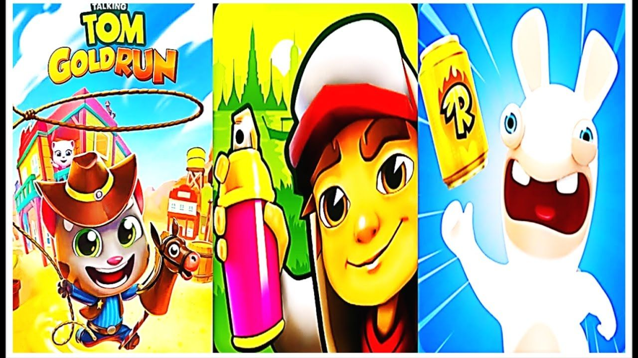 Fun Rabbit Rush Vs Temple Run 2 Vs Talking Tom Gold Run Temple Run 2 Talking Tom Temple Run 2 Games For Kids