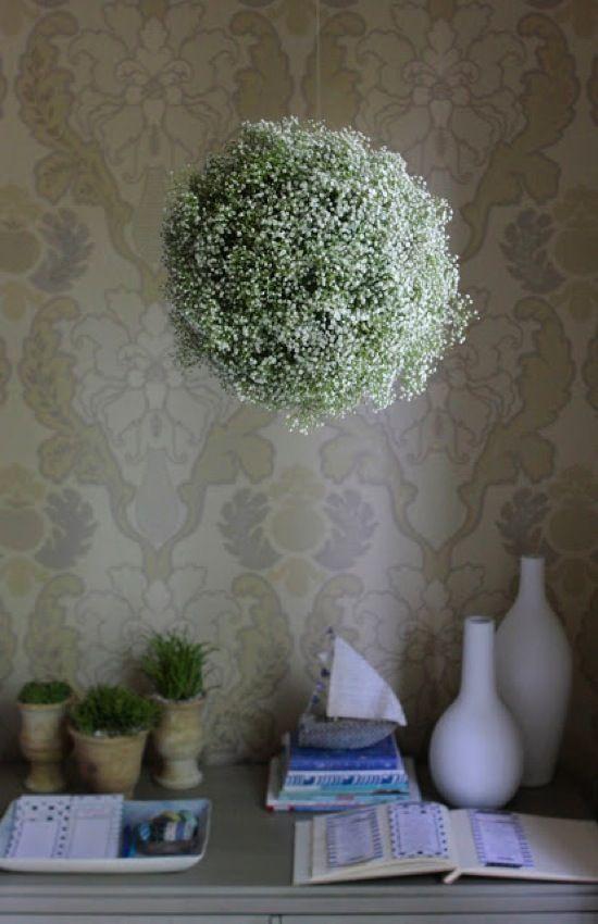 Babys Breath Chandelier Sarah Hines EVENTS Pinterest Babys - Beautiful diy white flowers chandelier