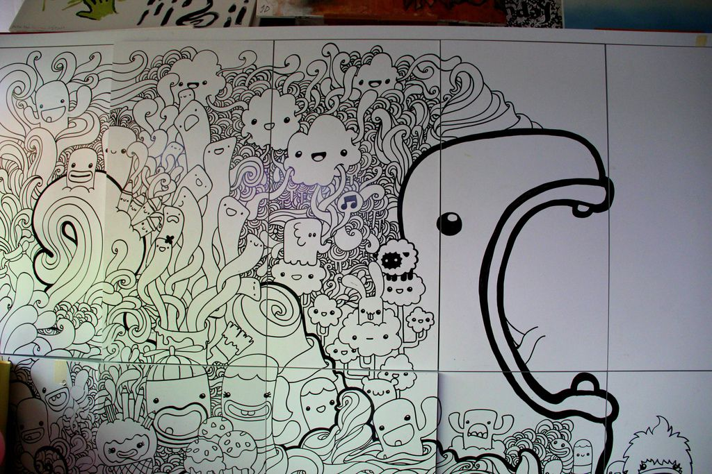 73 Doodle Invasion Zifflins Coloring Book Singapore