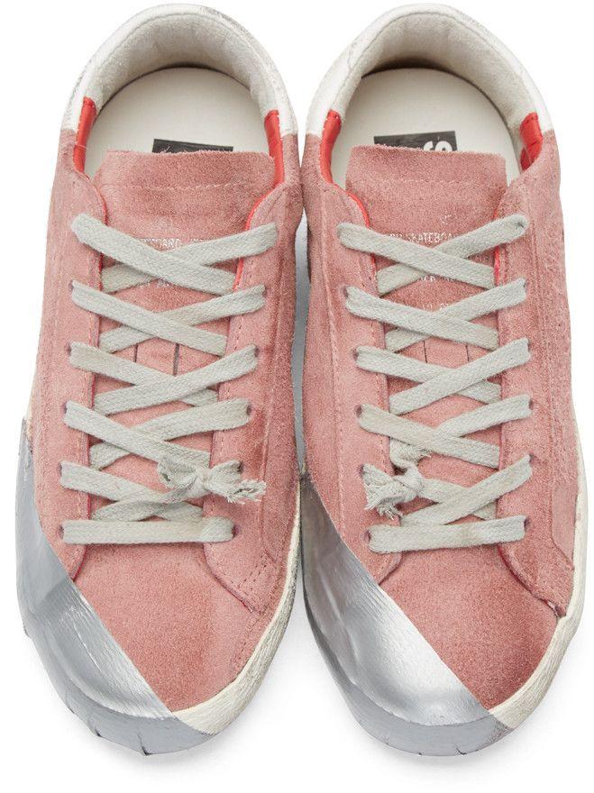 Golden Goose Pink Superstar Suede sneakers 2018 Unisex 4ClXpgaENp