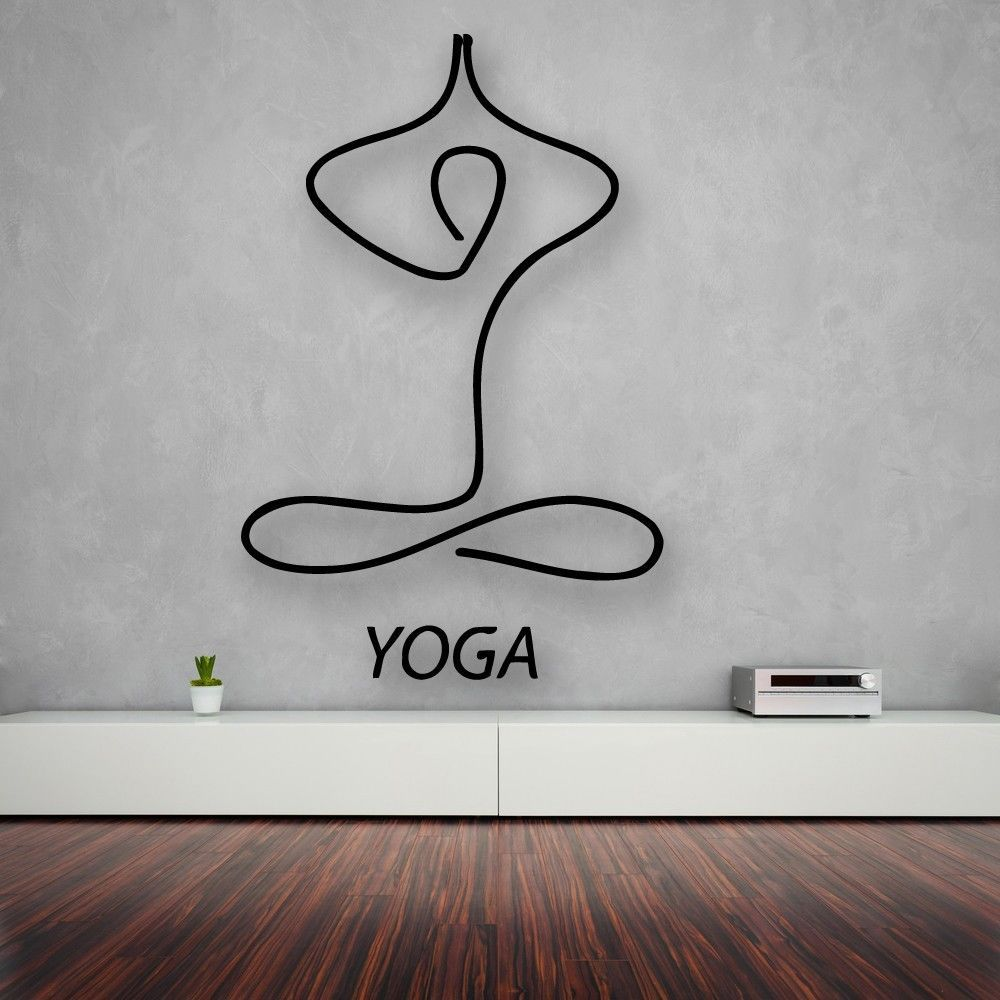 Living Room Yoga Studio Coogee: Details About Vinyl Wall Decal Yoga Center Relaxation