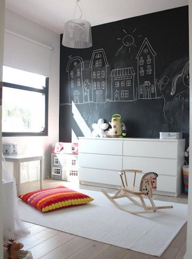 pintura de pizarra en decoracion dormitorios juveniles