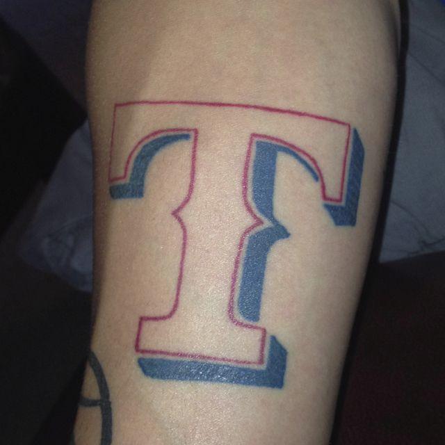 hubby 39 s texas rangers tattoo tatts pinterest tattoo tatting and texas tattoos. Black Bedroom Furniture Sets. Home Design Ideas