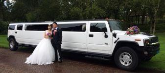 #Huwelijk te Bolsward en als #Trouwvervoer een gave #HummerH2Limousine