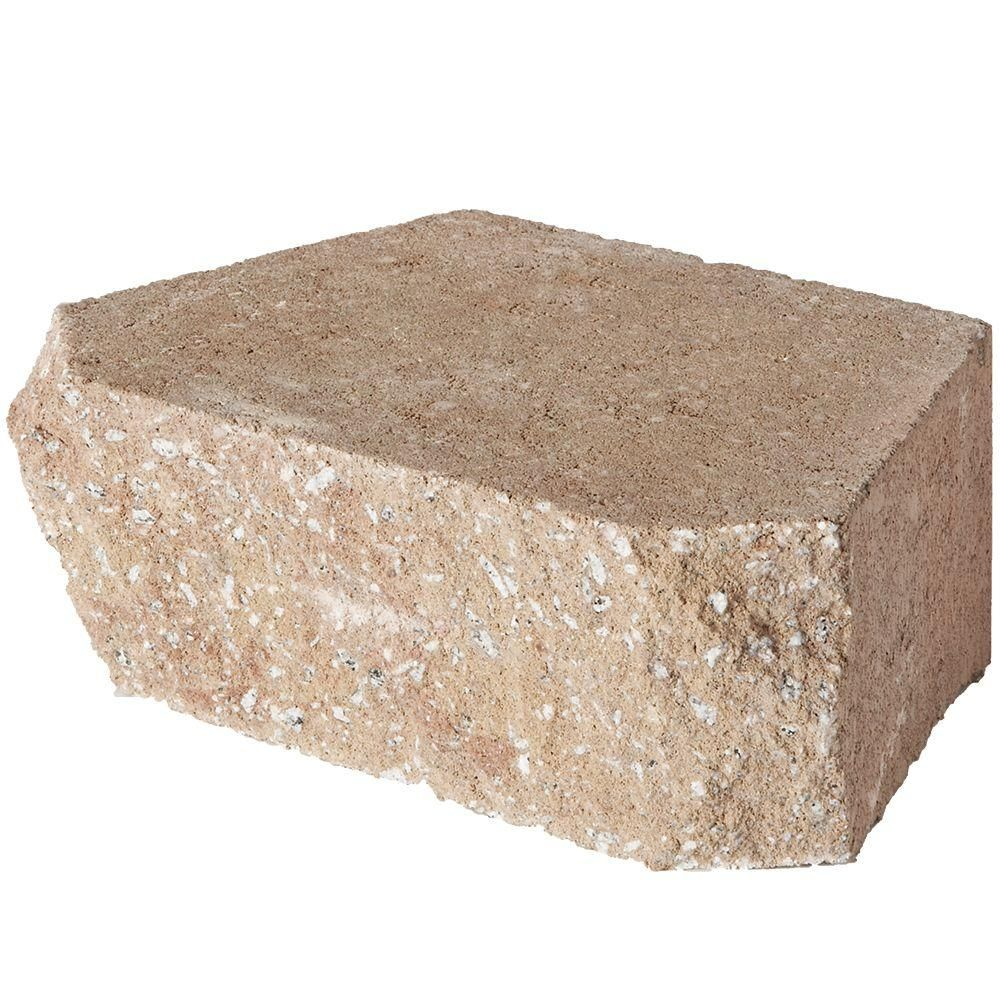 Pavestone 4 In X 11 75 In X 6 75 In Light Almond Concrete Retaining Wall Block Retaining Wall Block Retaining Wall