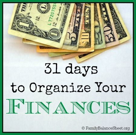 Days To Organize Your Finances  Organizing Checking Account And