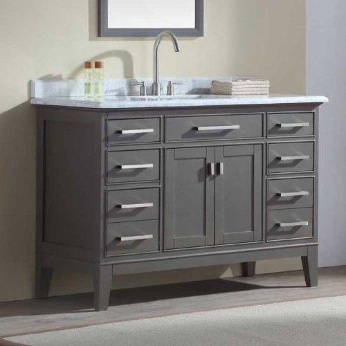 Ari Kitchen and Bath Danny 48 in Single Bathroom Vanity Set - Maple