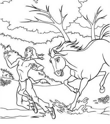 spirit 6 ausmalbilder für kinder. malvorlagen zum ausdrucken und ausmalen mit bildern