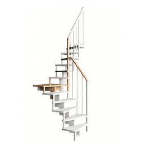 escalier gain de place subtile 1 4 tournant contemporain escalier pinterest escalier gain. Black Bedroom Furniture Sets. Home Design Ideas