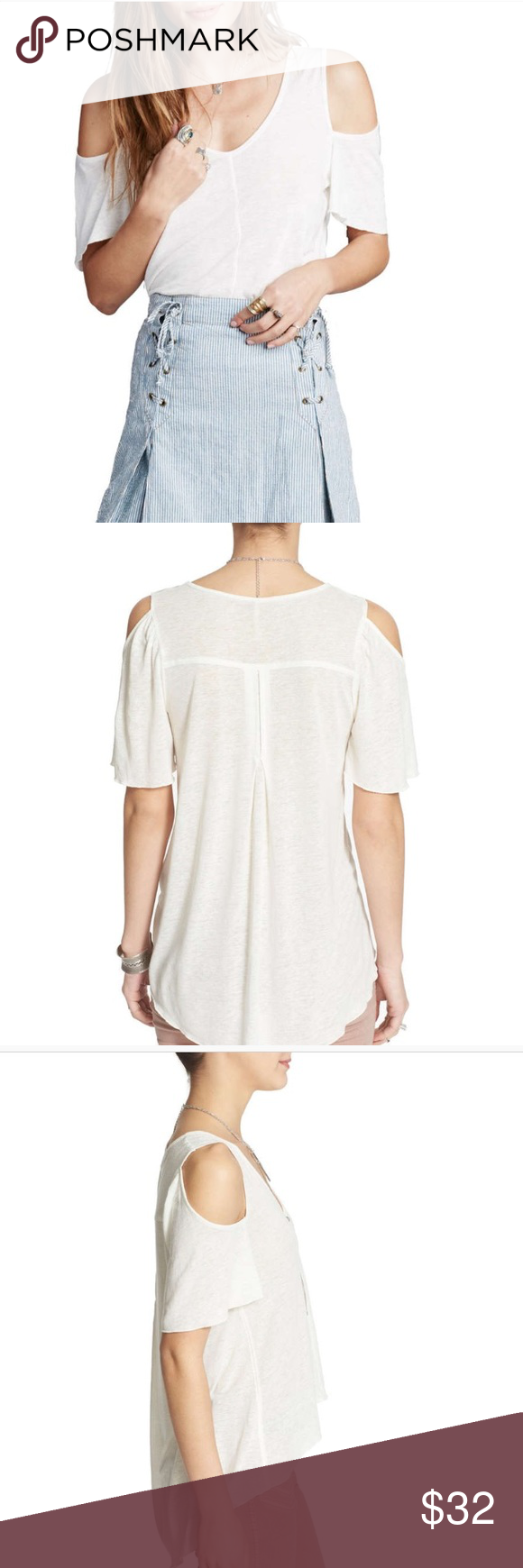 00e3a331b87 Free People bittersweet cold shoulder top For yourself or a gift🎁. Free  People brand is popular with most 👍. Versatile ivory top is a great casual  top ...