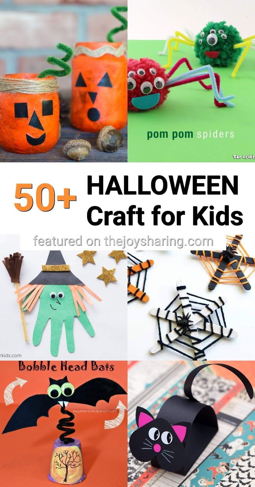 50 Halloween Crafts For Kids Halloween Crafts For Kids