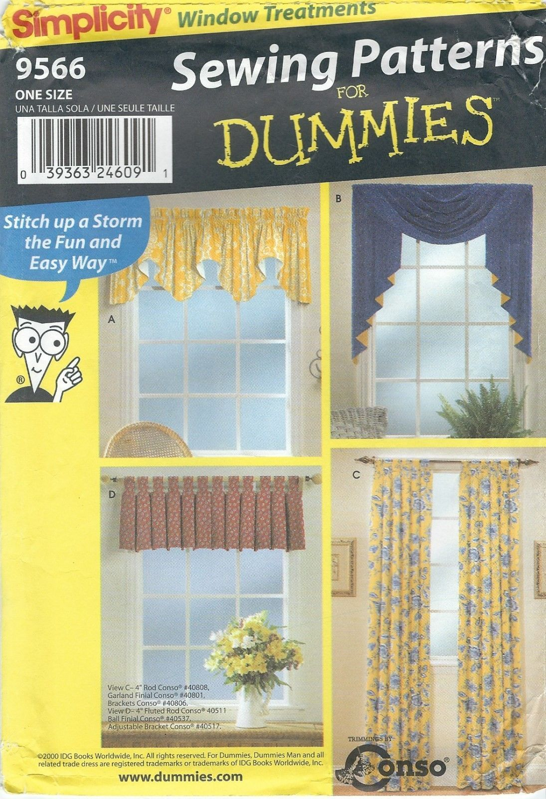 Curtain Sewing Patterns Simplicity Sewing Pattern 9566 Valances