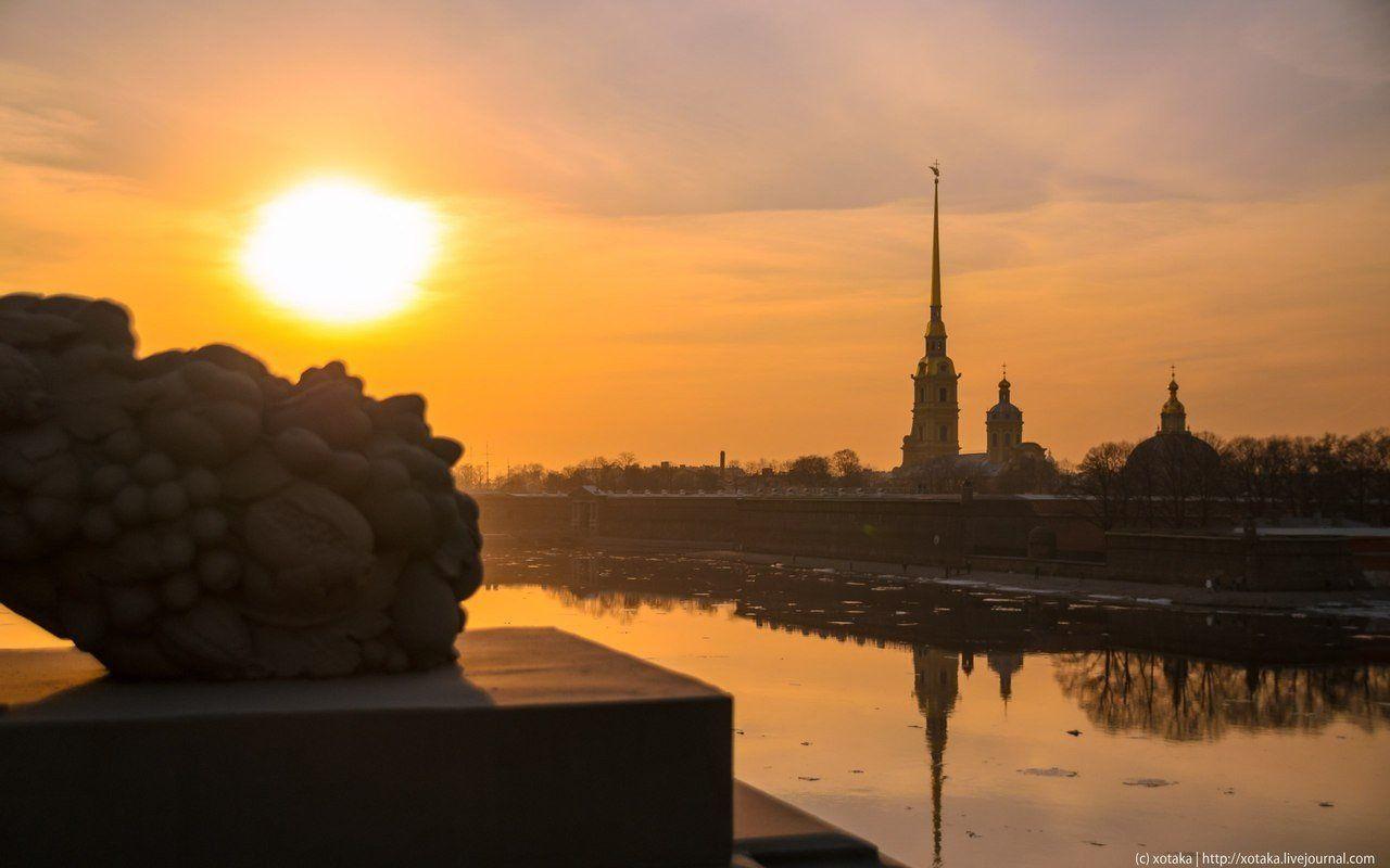 рассвет в санкт петербурге фото далеко