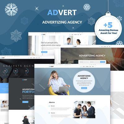 Advert - Advertising Agency WordPress Theme | Wordpress template ...