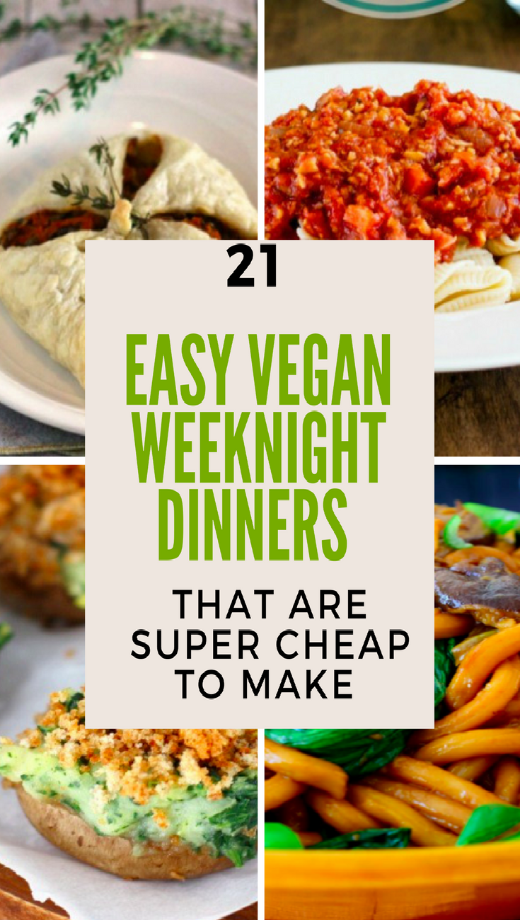21 easy vegan weeknight dinners that are cheap to make food budget 21 easy vegan weeknight dinner recipes that are super cheap to make meals snacks forumfinder Gallery