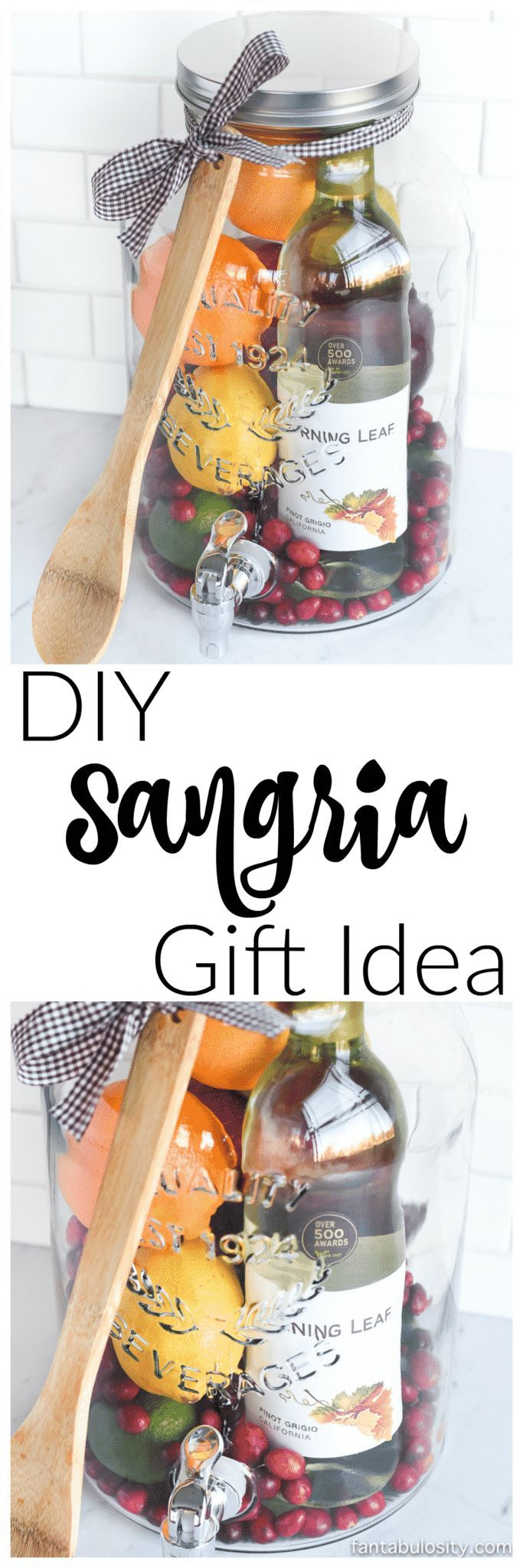 DIY Gift Idea: Sangria Kit - Great for Friends, Housewarming & More!