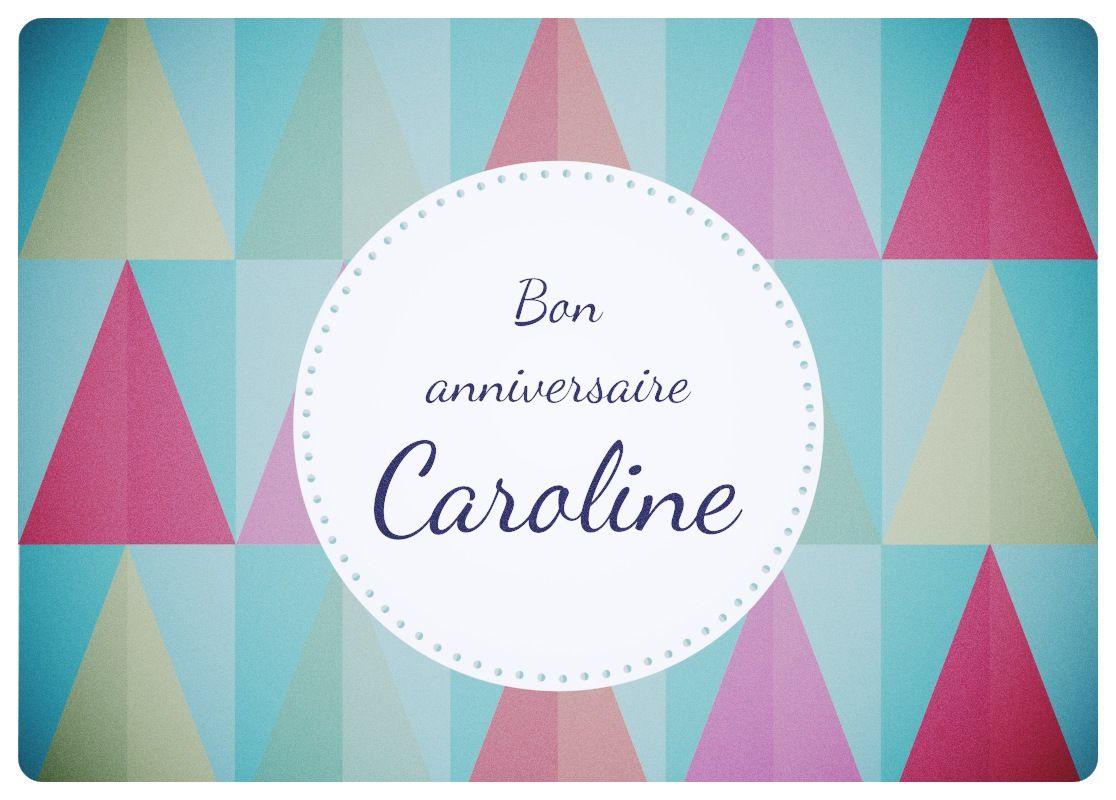 Carte Joyeux Anniversaire Happy Birthday Card Caroline C Tom