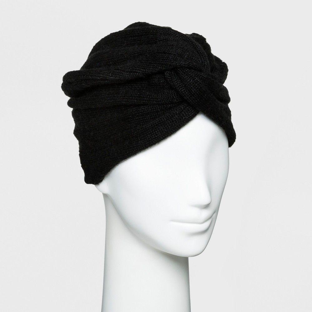 8aa8b231d Women's Textured Turban - A New Day Black, Ebony | Products | Turban ...