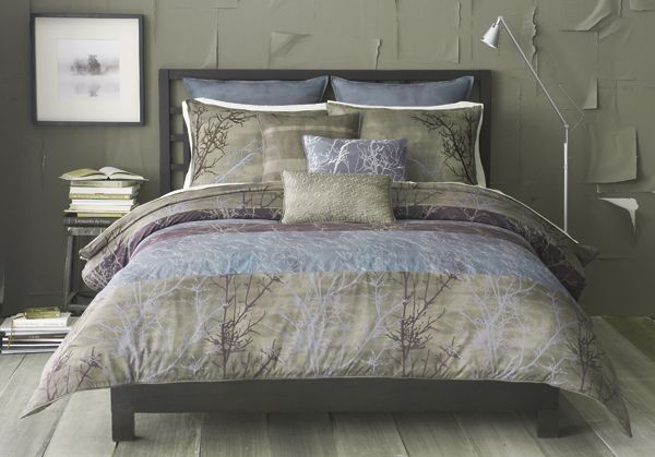 Quot Grove Quot Reversible Natural Tree Branch Print Comforter Set