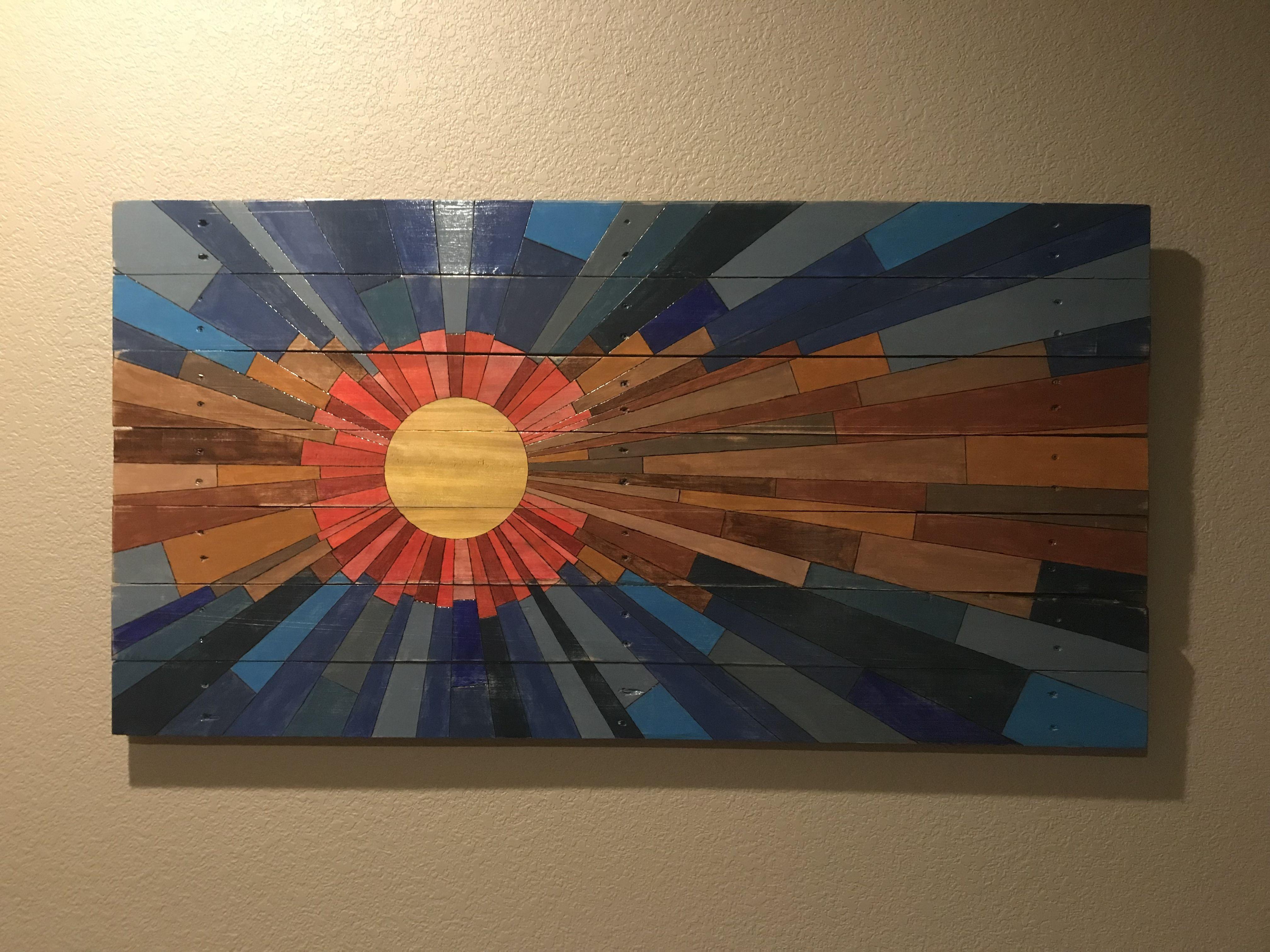 Colorado Reclaimed Wood Flag   Wood flag, Flag art, Pallet ...