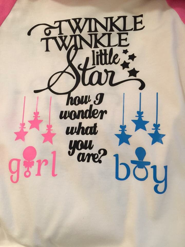 Anointed Creations By K Baby Gender Reveal T Shirt Design