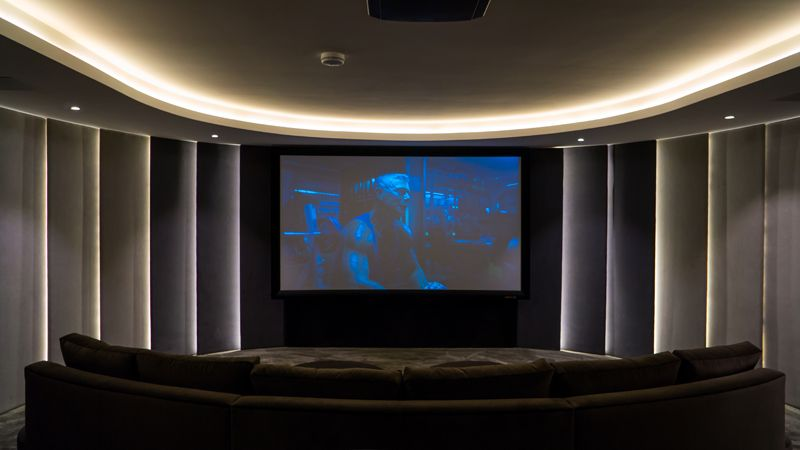 The ultimate home cinema experience is enhanced with wall