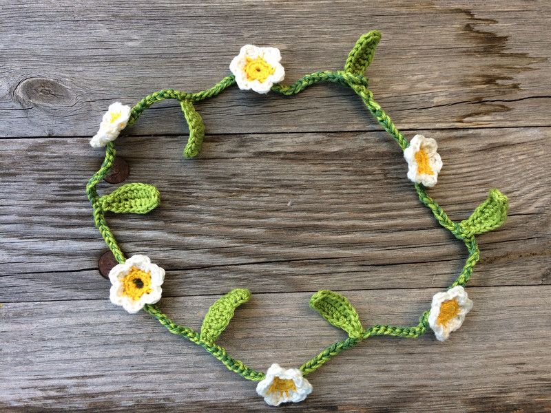 Ketten Blumenkette Gänseblümchen Ein Designerstück Von Liamala