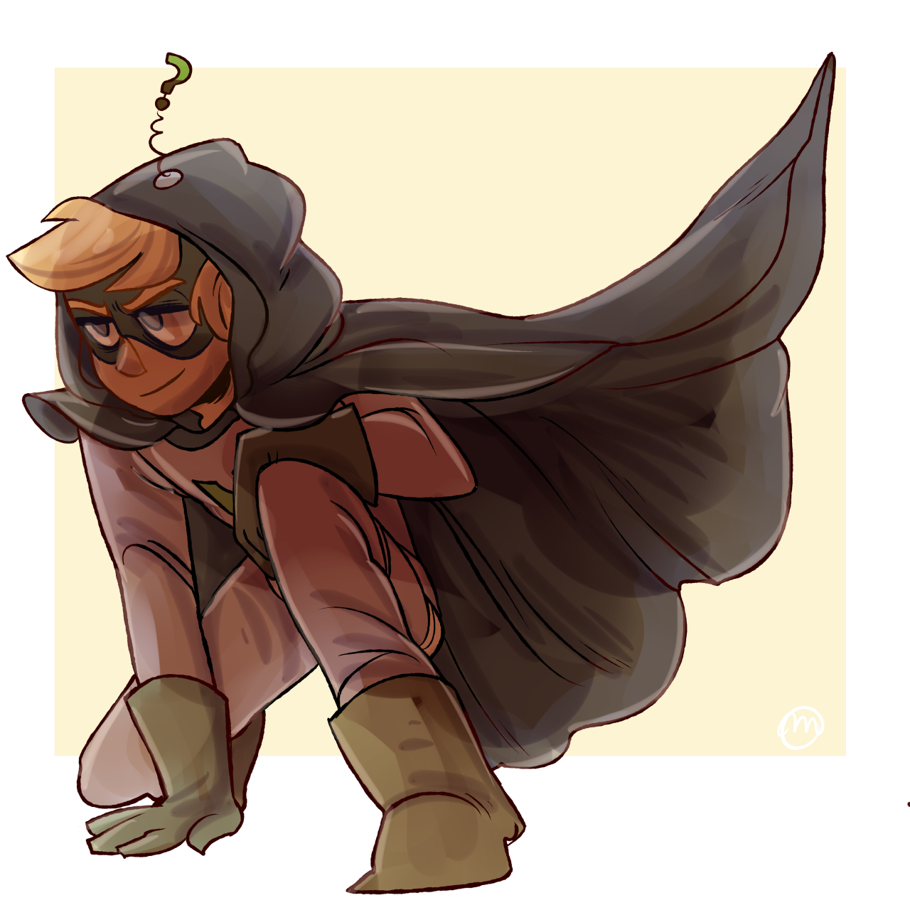 Art trade with @itsnotbeau!!! I've never drawn Mysterion