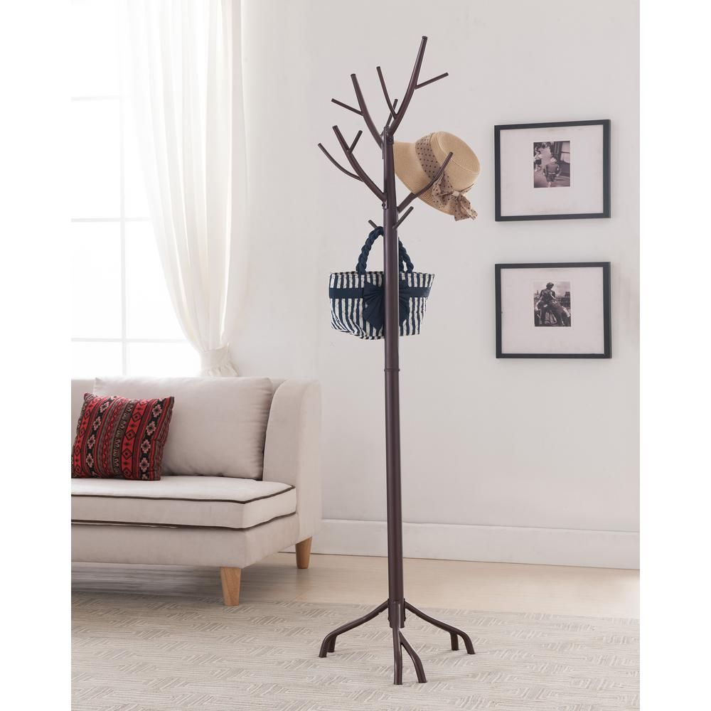 Kings Brand Furniture Bronze Metal Tree Coat And Hat Stand With 10 Hooks In 2020 Tree Coat Rack Home Decor Furniture
