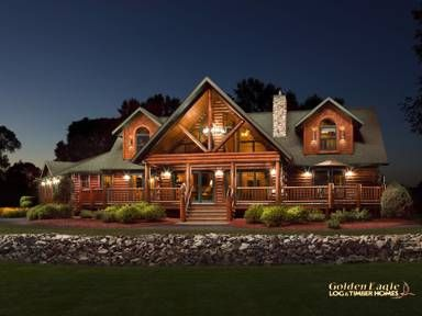 Double Eagle Deluxe Log Home by Golden Eagle Log & Timber Homes