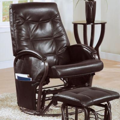 Monarch Swivel Recliner Rocking Chair With Ottoman