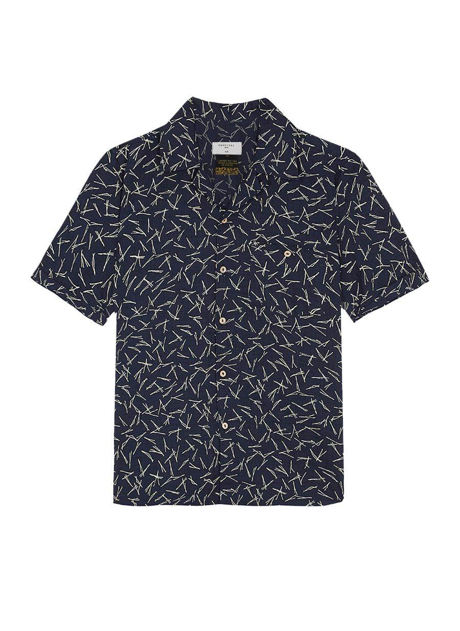 Short Sleeve Shirt | Cuban Collar Niwaki Pine | Short sleeve