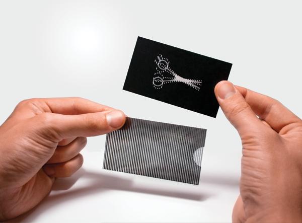 Barber's business card concept by Evgeny Katz, via Behance